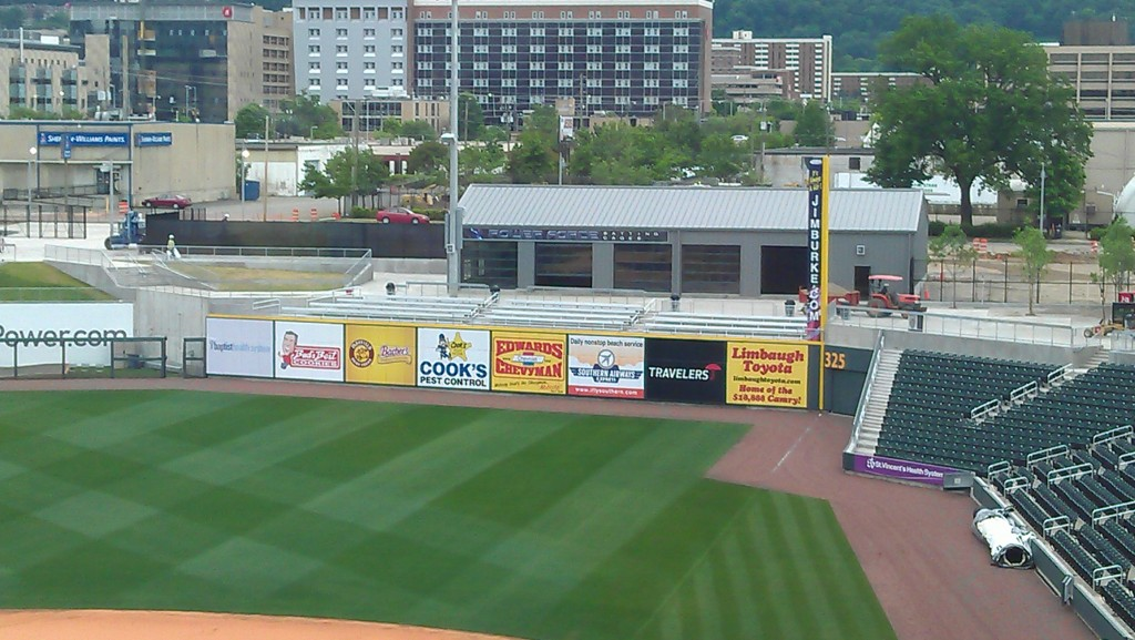 Regions Field outfield wall