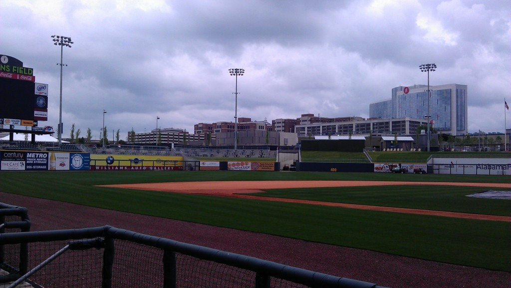 Wrapped pads and bullpen at Regions field