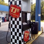 Premium cast digital vinyl applied to TJ's gas station