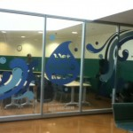 Cut vinyl applied at UAB Campus Rec Center